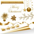 Collection Gold Christmas Elements — Stock Vector #4329139