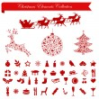 Christmas Holiday Elements — Stock Vector