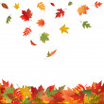 Falling Fall Leaves — Stock Vector