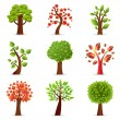 9 Trees — Stock Vector