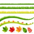 Grass And Leaves — Stock Vector