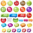 Set Selling Badges — Stock Vector