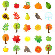 Stock Vector: Autumn Symbols And Elements