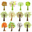 Collection Of Trees — Stock Vector #4329366