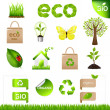 Collection Eco Design Elements And Icons — Stock Vector #4329389