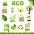 Collection Eco Design Elements And Icons — Stock Vector