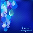 Blue Abstract Background With Drops — Stock Vector