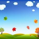 Autumn Cartoon Landscape — Stock Vector #4329470
