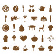 Collection Restaurant Icons - Imagens vectoriais em stock