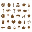 Collection Restaurant Icons - Stock Vector