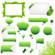 Big Green Set — Stock Vector