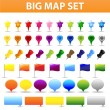 Royalty-Free Stock Vectorielle: Big Map Set