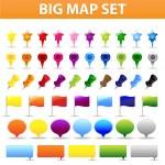 Big Map Set — Stock Vector