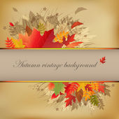 Autumn Abstract Vintage Background — Stok Vektör