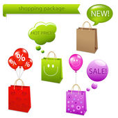 Shopping Package — Stock Vector