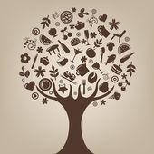Brown Tree — Stock Vector