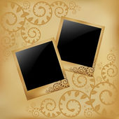 Photo On Vintage Background — Stock Vector
