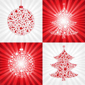Collection Christmas Backgrounds — Stock Vector