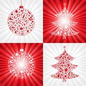 Koleksiyon Noel arka planlar — Stok Vektör