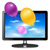 LSD tv monitor z balonów — Wektor stockowy