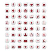 Restaurant And Map Icons Vector Set — Stock Vector