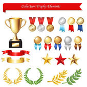 Collection Trophy Elements — Stock Vector