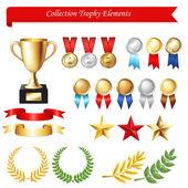 Elementos de colección trofeo — Vector de stock