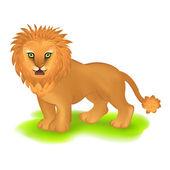 Leão na grama — Vetorial Stock