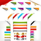 角和色带 — 图库矢量图片