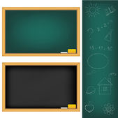 School Boards — Vettoriale Stock
