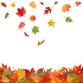 Falling Fall Leaves — Vector de stock