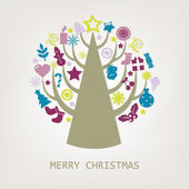 Merry Christmas Composition — Stock Vector
