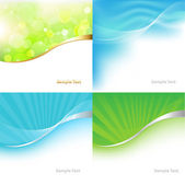 Collection Green And Blue Tones Background — Stock Vector