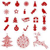Elementos e ícones de natal — Vetorial Stock