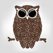 Owl From Coffee — Stock Vector