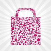 Sac pour faire du shopping — Vecteur