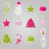 Christmas Symbols And Elements — Stock Vector