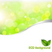 Green Eco Background — Stock Vector