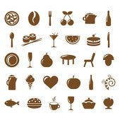 Collection Restaurant Icons — Stock Vector