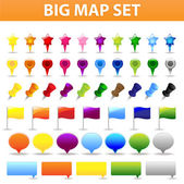 Big Map Set — Stock Vector