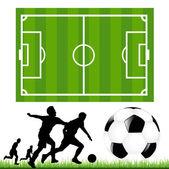 Soccer Set — Stock Vector