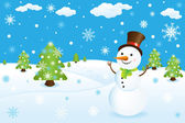 Pupazzo di neve — Vettoriale Stock