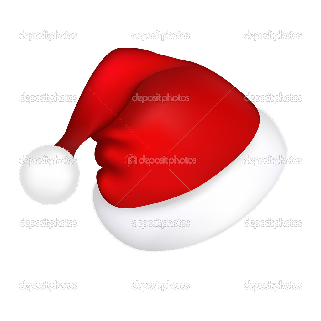 Hat Santa Claus, Isolated On White Background, Vector Illustration — Stock Vector #4329076