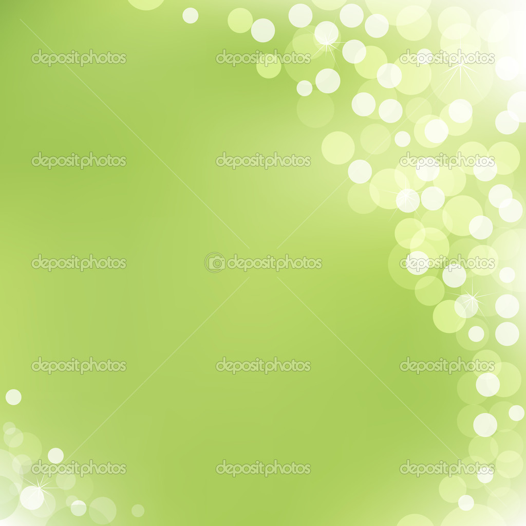 Abstract Green Vector Background With Bokeh  Stock Vector #4329099