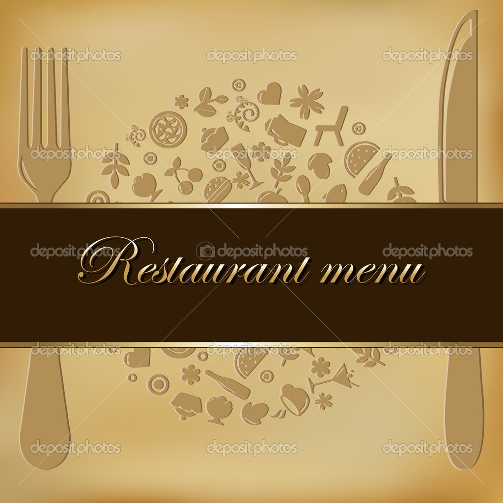 Restaurant Menu Design, Vector Illustration — Stock Vector #4329194