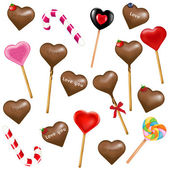 Lollipops And Sweets — Stock Vector