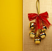Christmas Bells On The Golden Background — Stock Photo