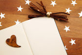 Blank Notebook With Heart — Stock Photo