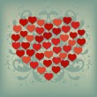 Heart Background 2 - Stok Vektör