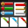 Christmas Web Elements - Imagen vectorial